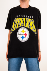 90s steelers t-shirt in black