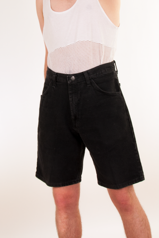 black vintage wrangler denim shorts