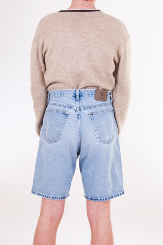 vintage light wash wrangler jean shorts
