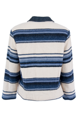 Vintage Woolrich jacket with blue and cream stripes