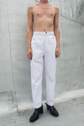 Vintage white high waisted jeans