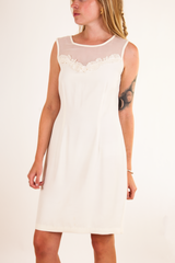 vintage off white wedding dress