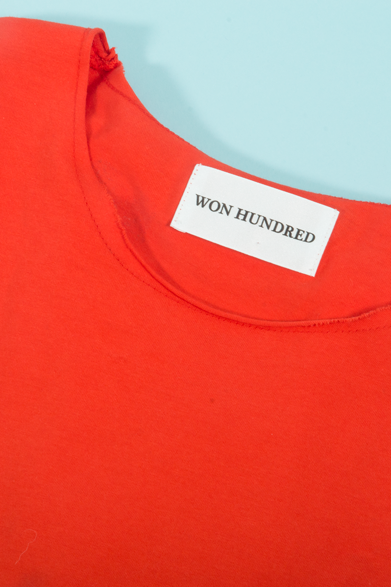 Won Hundred highlighter orange t-shirt