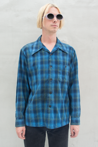 vintage blue Pendleton flannel shirt