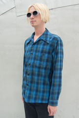 vintage Pendleton flannel shirt in blue