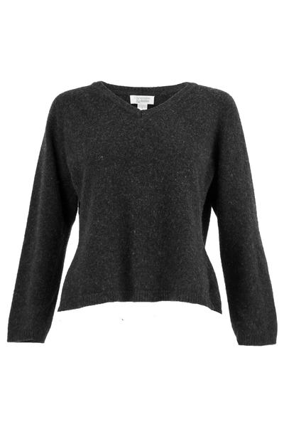 vintage black sweater with v-neck