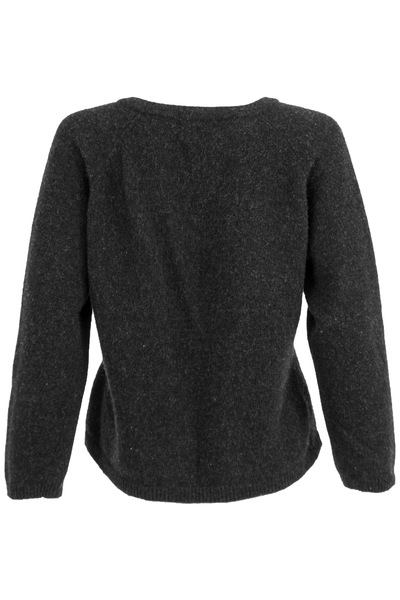 vintage black wooly sweater