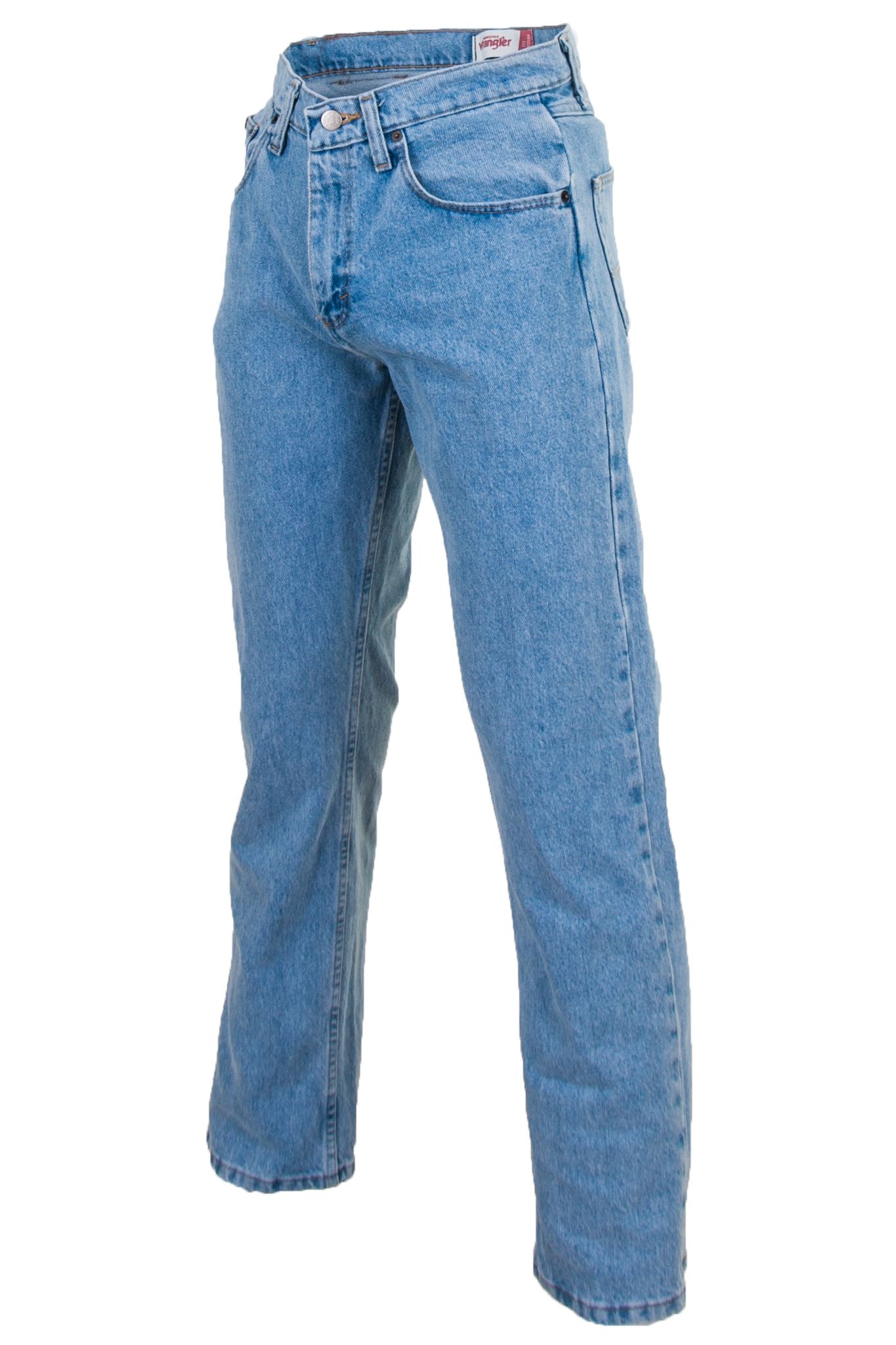 blue wrangler jeans in classic fit