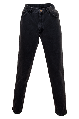Vintage black wrangler jeans with slim straight leg