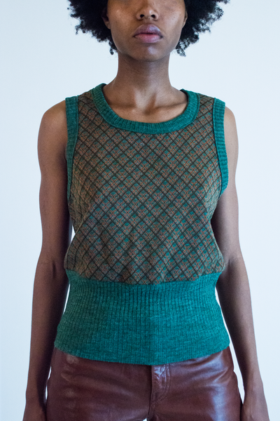 knit wrangler top in green