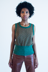 vintage green and brown Wrangler Knit top