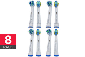 Replacement Toothbrush Heads - Oral-B Compatible (Pack of 8)