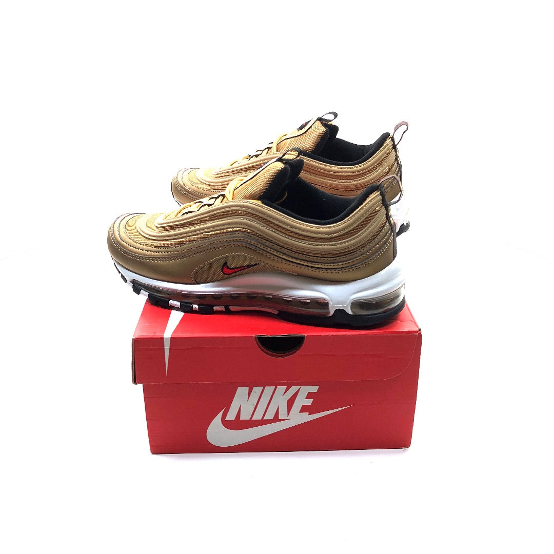 bd1ebfb958 Nike Air Max 97 OG QS Gold Bullet Metallic / Red size 8 shoes 884421 700