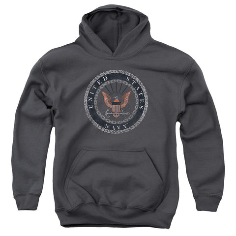 Love my Hoodie - Proud Navy Rough Emblem Youth - 2Shop Around The Corner