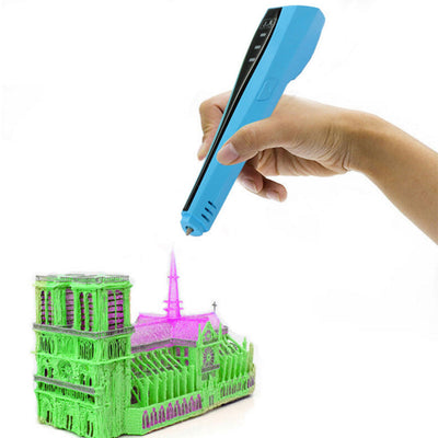 3D Printing Pen, Intelligent 3D Drawing Doodle Art with 1.75mm Filament included are 20 Colors of Filament as Free Gift - 2Shop Around The Corner