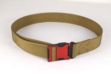 Red and coyote brown magnetic tactical belt
