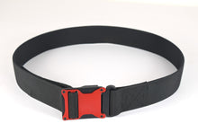 Red and black magnetic tactical belt