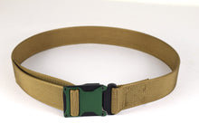 Green and coyote brown magnetic tactical belt