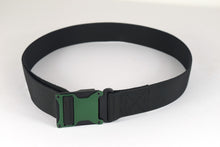 Green and black magnetic tactical belt