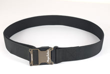 brown and black magnetic tactical belt