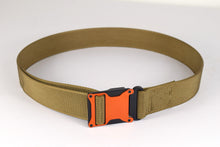Orange and coyote brown magnetic tactical belt