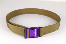 Purple and coyote brown magnetic tactical belt