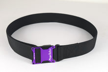 Purple and black magnetic tactical belt