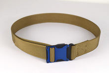 Blue and coyote brown magnetic tactical belt