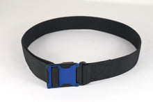 Blue and black magnetic tactical belt