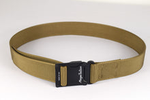 Black and coyote brown magnetic tactical belt