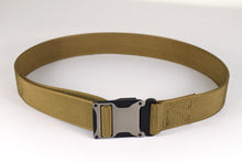 Grey and coyote brown magnetic tactical belt