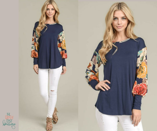Adeline Floral Sleeve Top