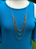 The Multi Stone Gold Layer Necklace