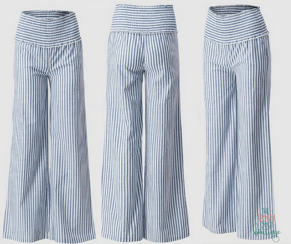 Elise Linen Stripe Pants