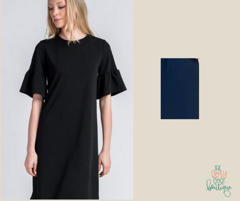 Angelina Dress - Short Sleeve- Navy