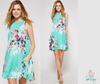 Annie Floral Swing Dress - Mint