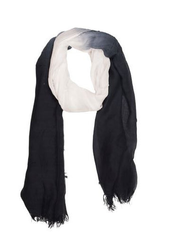 Black and White Ombre Scarf