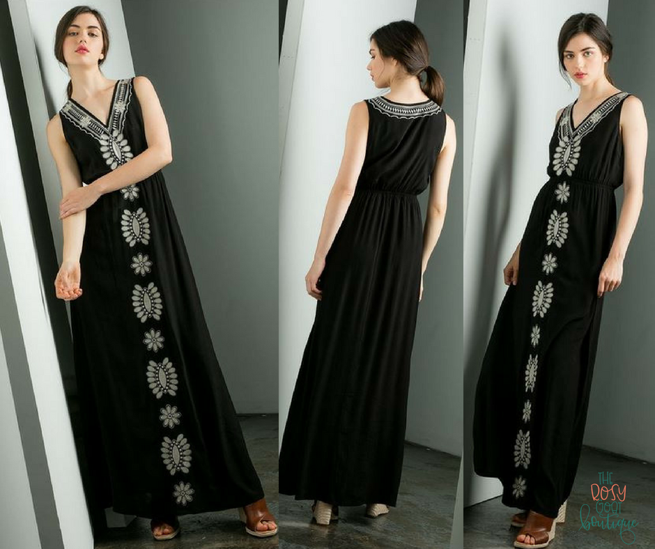Mila Embroidered Maxi
