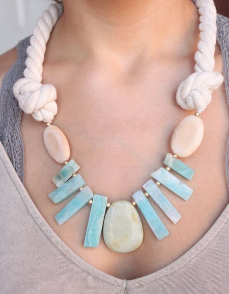 Come Sail Away Necklace-Mint