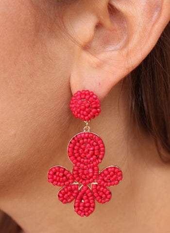Dupree Earring-Red