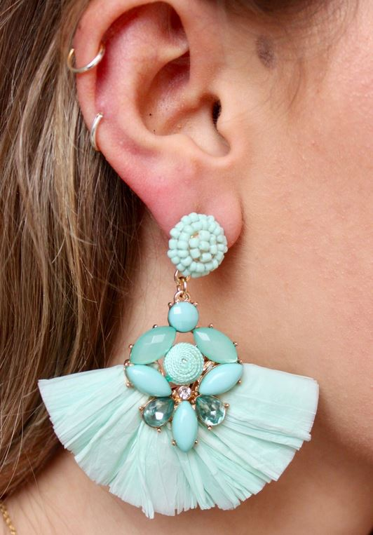 Emden Earrings-Mint