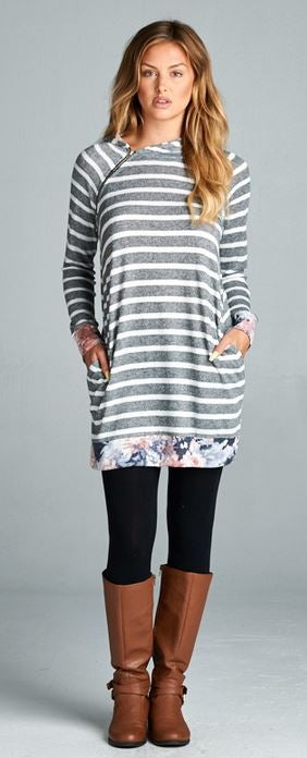 Laurie Floral & Stripe Tunic