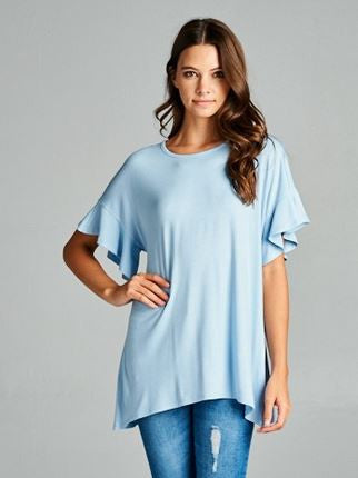 Flutter Sleeve Top