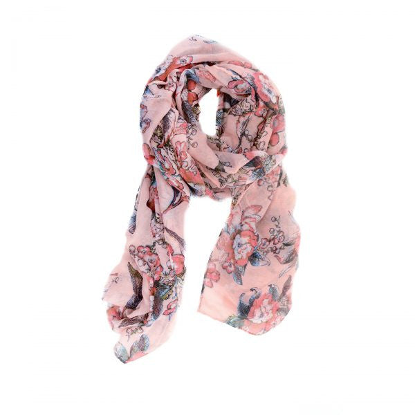Rose Coral Island Scarf