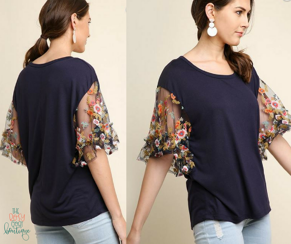 Laurel Top - Navy