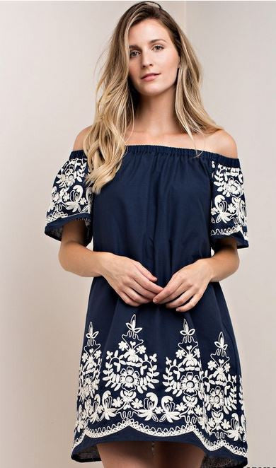 Maria Embroidered Dress