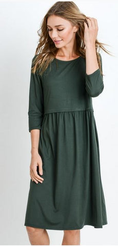 Sarah 3/4 Sleeve Dress