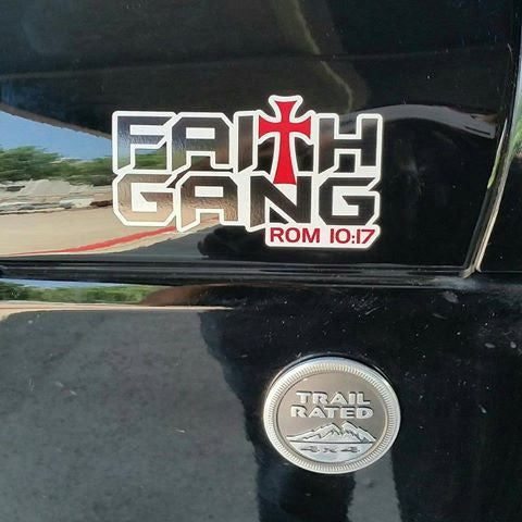 "Faith Gang Window Decals 15""x8"""