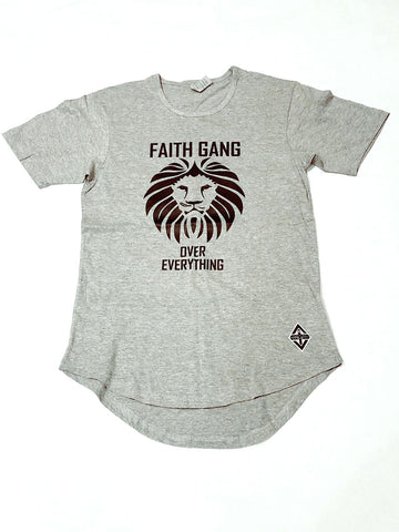 Faith Gang Scoop Tee | Light Grey
