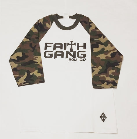 Faith Gang Baseball Tee | Camo
